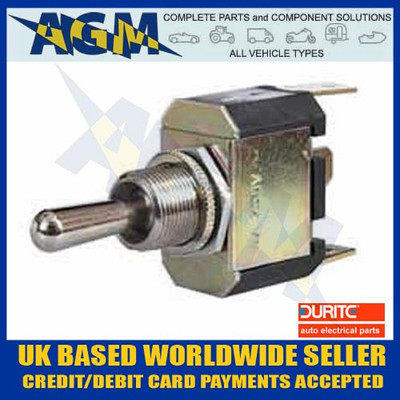 Durite 0-496-01, 3 Way On/Off/Momentary On Toggle Switch
