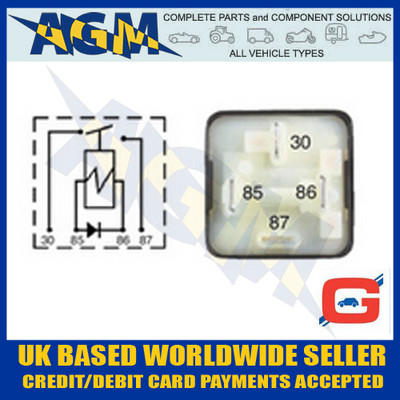 Guardian GR24, 24v, 20A Mini Make and Break Relay with Diode