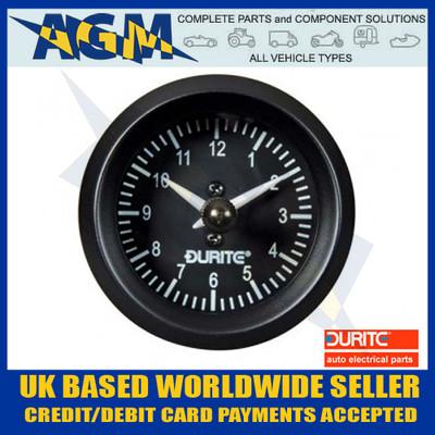 Durite 0-523-03, 52mm Quartz Illuminated Clock 12/24v