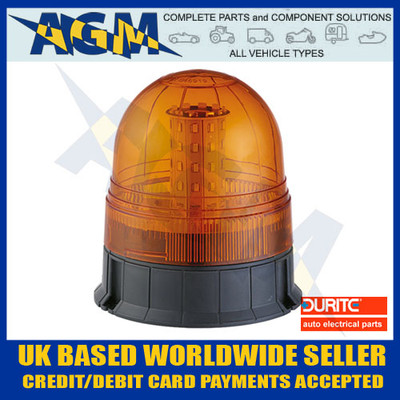 Durite 0-445-08 Multi-Function Amber Three Bolt LED Beacon - 12/24v
