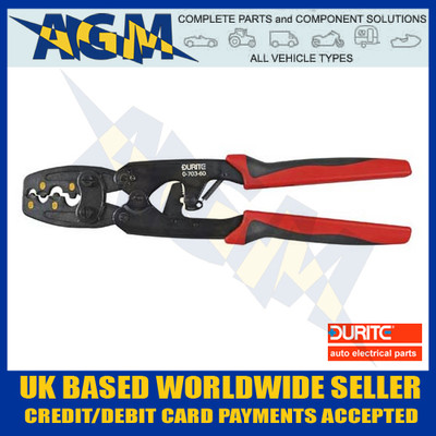 Durite 0-703-60 Ratchet Crimping Tool For Un-Insulated Terminals