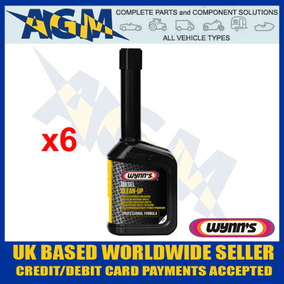 Wynns Professional 25241 Diesel Clean Up - 325ml Bottle (Pack of 6)