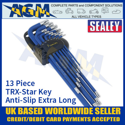 Sealey AK7165 TRX-Star Key Set 13pc Anti-Slip Extra-Long
