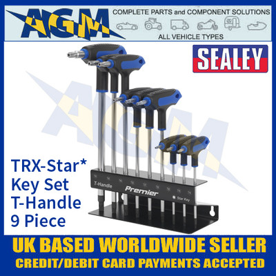 Sealey AK7196 TRX-Star* Key Set, T-Handle