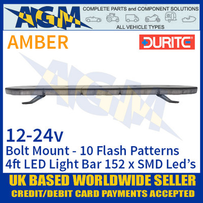 Durite 0-443-42 Light Bar, Amber 152 x SMD LED Light Bar - 12/24V