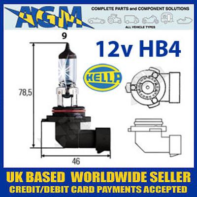 HELLA 12v P22D Halogen Headlamp Bulb (Single Bulb)