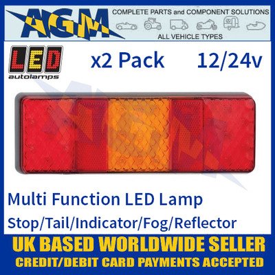 LED Autolamps 250FARM LED Rear Multi Function Lamp 12/24v