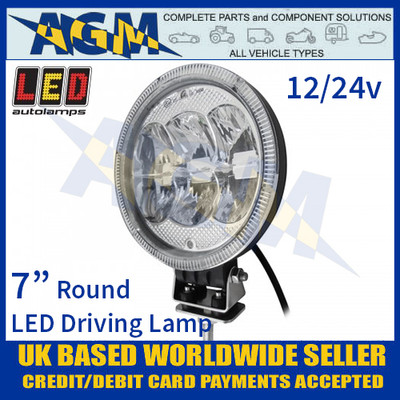 "LED Autolamps 1786SBM LED 7"" Round Driving Lamp/Light 12/24v"