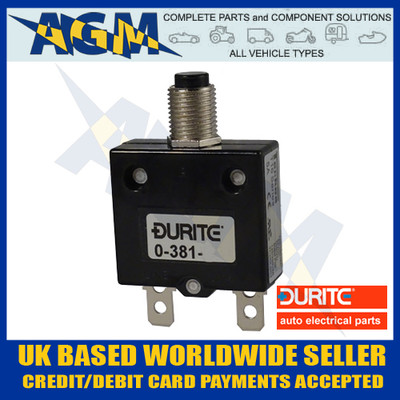 Durite 0-381-70 Circuit Breaker 20A, 12-24v