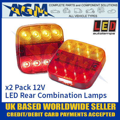 LED Autolamps 99ARL2 (x2) LED Rear Multi Function Lamps 12v