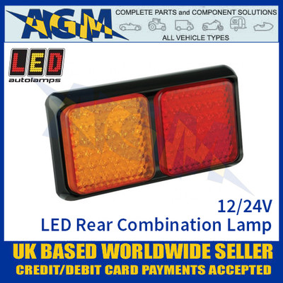 LED Autolamps 80BARME LED Rear Combination Lamp 12/24v