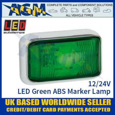 LED Autolamps 58CGME LED Green ABS Marker Lamp Light 12/24v