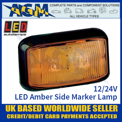 LED Autolamps 58AME LED Amber Side Marker Lamp Light 12/24v