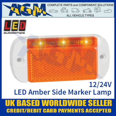 LED Autolamps 44WAME LED Amber Side Marker Lamp Light 12/24v