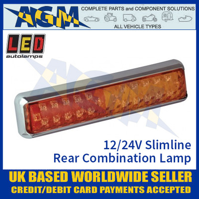 LED Autolamps 200CSTIME Slimline LED Rear Combination Lamp 12/24v