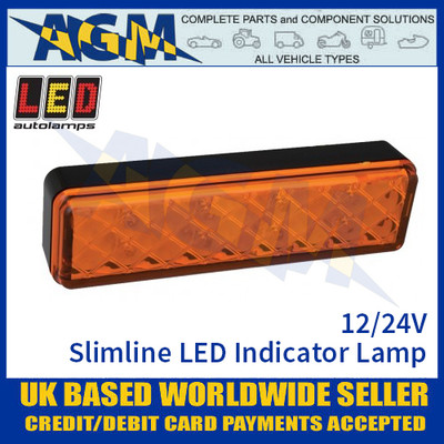 LED Autolamps 135AME LED Slimline LED Indicator Lamp Light 12/24v
