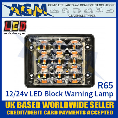 LED Autolamps SSLED93DVAR65 Super-Slim 9 Block LED Warning Lamp