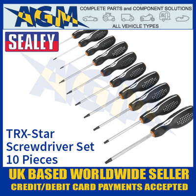 Sealey AK4312 TRX-Star Screwdriver Set ProMAX® 10 Piece Screwdriver Set