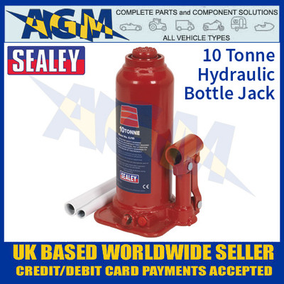 Sealey SJ10 10 Tonne Bottle Jack, Hydraulic Bottle Jack