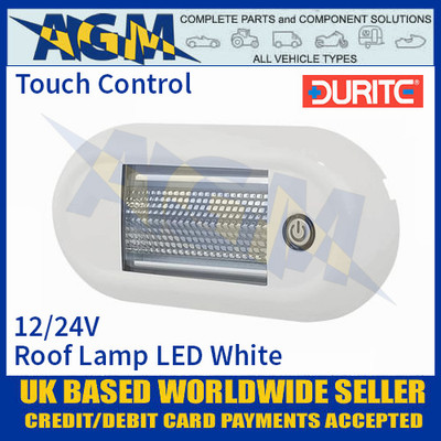 Durite 0-668-68 Roof Lamp Touch SMD LED White, 12/24V, IP67, ECE R10