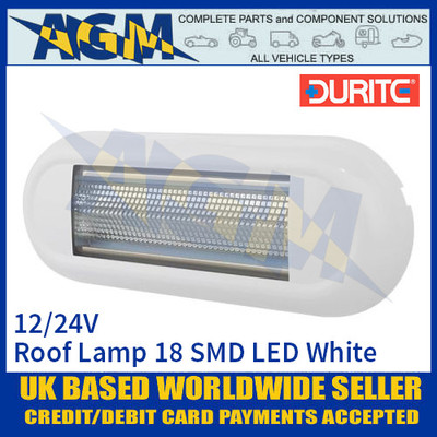 Durite 0-668-87 Roof Lamp 18 SMD LED White, 12/24V, IP67, ECE R10