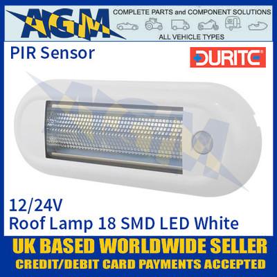 Durite 0-668-89 Roof Lamp PIR 18 SMD LED White, 12/24V, IP67, ECE R10