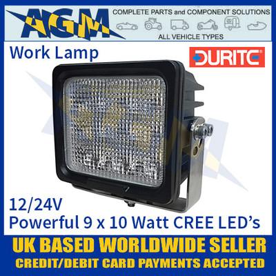 Durite 0-420-82 Powerful 9 x 10 Watt CREE LED Work Light, 12/24V Work Lamp