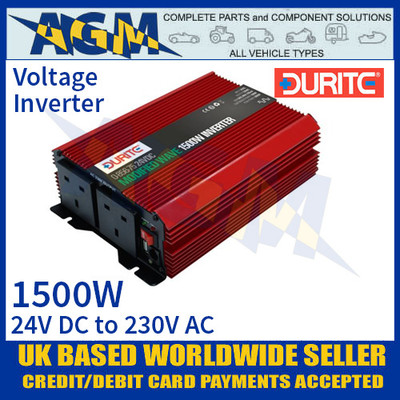 1500W 24V DC to 230V AC Compact Modified Wave Voltage Inverter