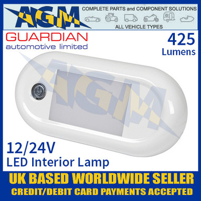 Guardian Automotive INT58 LED Interior Light with On/Off Switch 12/24V