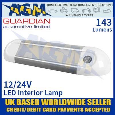 Guardian Automotive INT62 LED Interior Light with On/Off Switch 12/24V