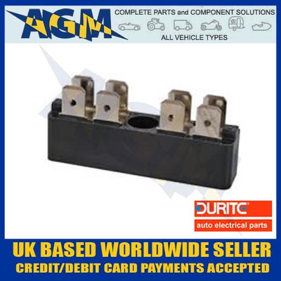 Durite 0-005-52,  2 x 4 Way Insulated Multi Terminal Connector Block