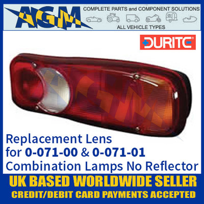 Durite Replacement Lens for 0-071-00 & 0-071-01 Rear Combination Lamps