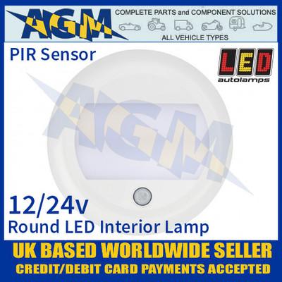 LED Autolamps 13026WM-PIR Round LED Interior Light/Lamp 12/24V - PIR Sensor