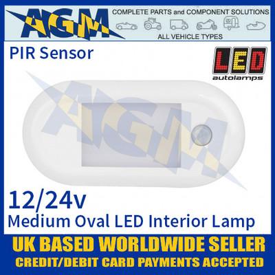 LED Autolamps 13614WM-PIR Med Oval LED Interior Lamp 12/24V - PIR Sensor