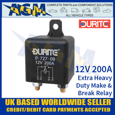 4 Pin 12v 200A Extra heavy duty make and break relay