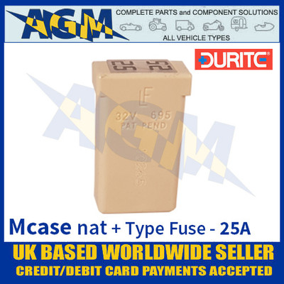 0-379-10 Durite Natural Mcase + Type Fuse - 25 Amp, Mcase & Fuse 25A