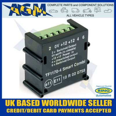 ryder super smart combi caravan split charge towing relay 30 ampring rct465 smartcom caravan split charge relay (tf1170 4)