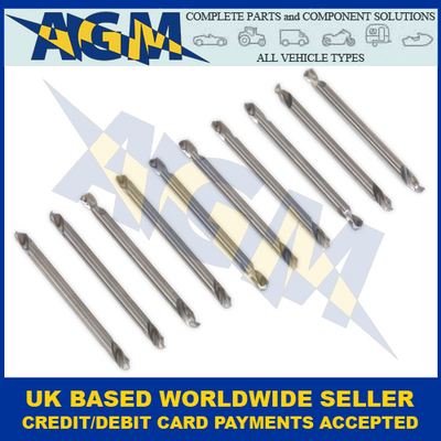 Sealey AK9910, Double End Drill Bit, 10 Piece Set, 1/8""