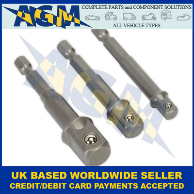 Sealey AK4929, Socket Adaptor, 3 Piece Set