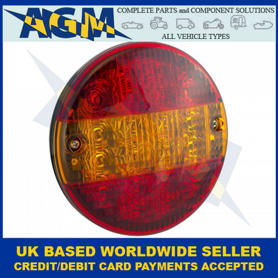 LED Autolamps HB140STIM, Slimline Hamburger Stop, Tail And Indicator Lamp, 12-24 Volt