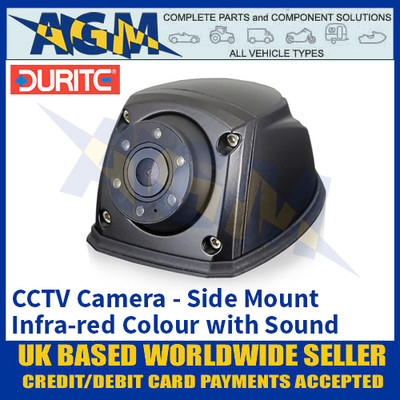 Durite 0-776-33 CCTV Colour Infra-red Camera with Sound, Side Mount, High Quality
