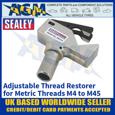 Sealey AK314 Adjustable Thread Restorer For Repairing Metric M4 to M45 Threads