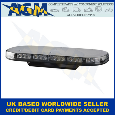 LED Autolamps, MLB380R65ABM, Single Bolt, Led Mini Light Bar, Amber, 12/24v