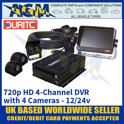 Durite 0-775-87 12/24v 720p HD 4-Channel DVR with 4 Cameras - Best In Class!