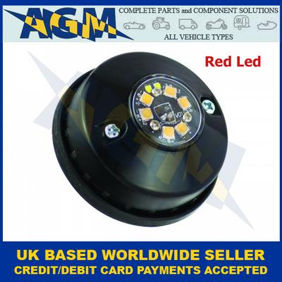Led Autolamps HALED6DVR, Hideaway Covert, Red Warning Lamp, 12/24v