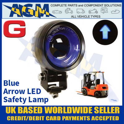 Guardian Automotive WL79 Blue LED Safety Forklift Work Lamp, 9-80 Volts
