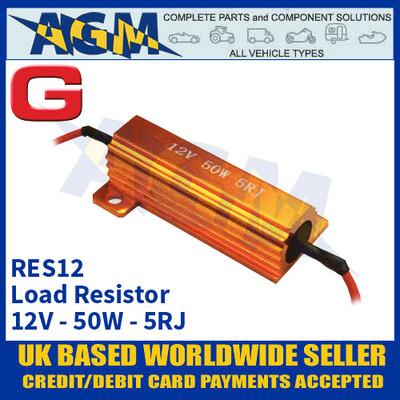 Guardian Automotive RES12 Load Resistor, 12 Volt, 50 Watts, Dummy Load Resistor