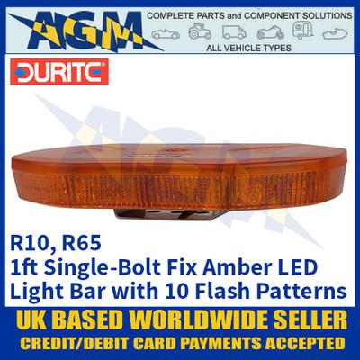 Durite 0-443-47 Amber 1ft 40 SMD LED Single-Bolt Mount Light Bar, 12/24v