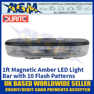 Durite 0-443-37 Amber 1ft 72 LED Magnetic Mount Light Bar, 12/24 Volt