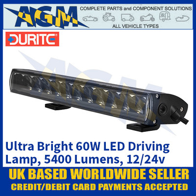Durite 0-420-96 Ultra Bright 60W Driving Lamp, 5400 Lumens, 12/24V